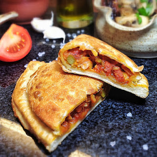 Chickpea and Asparagus Empanadas ~ Traditional Spanish Pasties
