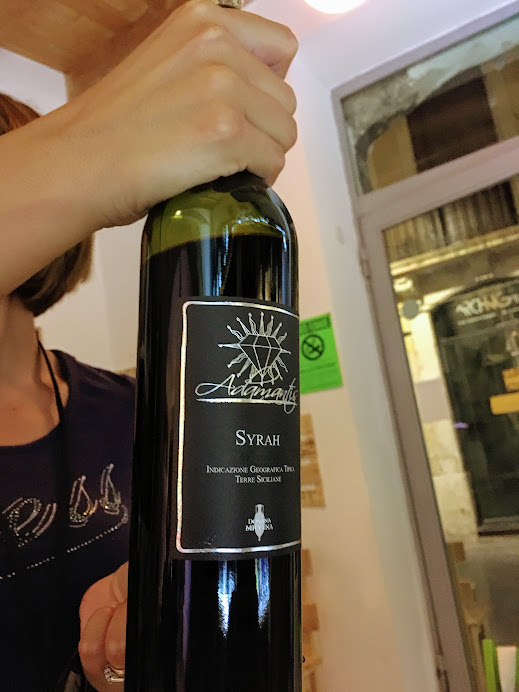 This local Sicilian Syrah came home with me.