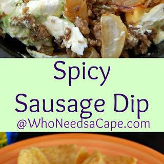 Spicy Sausage Dip.
