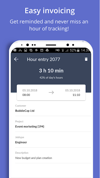 Taimer: Project Management, CRM, Invoicing System screenshot 2