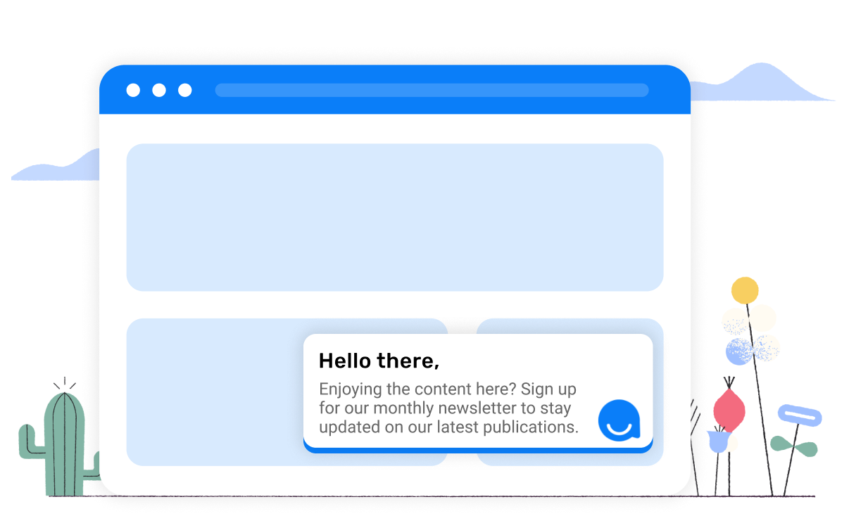 Chatbot with an engaging conversation as it's greeting message, rather than an automated pop-up.