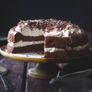 Chocolate Chestnut Cream Cake with Coffee + Rum {gluten-free}.