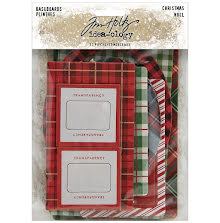 Tim Holtz Idea-Ology Baseboards 17/Pkg - Christmas 2020