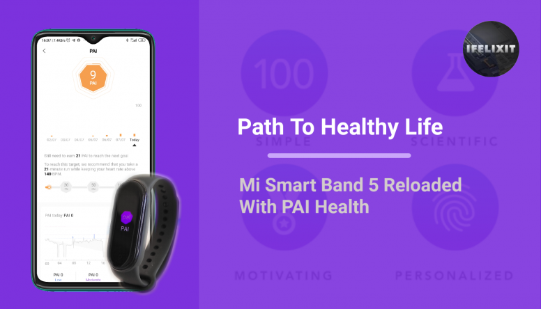 Path To Healthy Life - Mi Smart Band 5 Reloaded With PAI Health