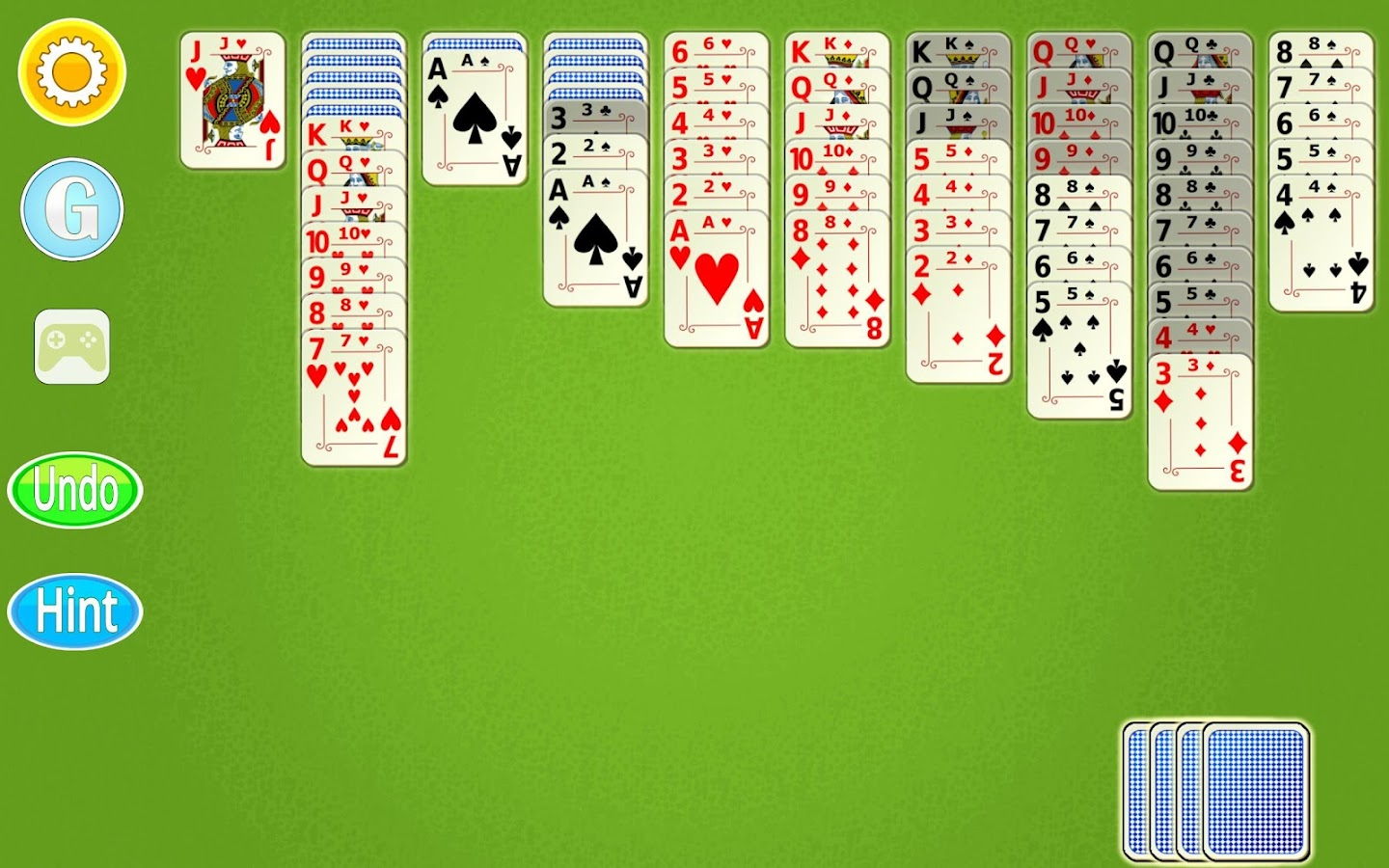 how to win solitaire app