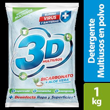 Detergente 3D Multiusos   Bicarbonato Y Aloe Vera X 1000g