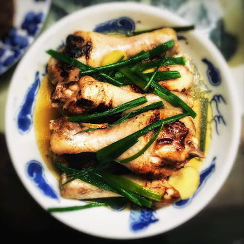 雞腿, 雞髀,  蒸焗, 蒸, 焗, 鹽醃, 煎焗, Grandma, Chinese, recipe, Steamed, Brined, Chicken, salt marinated