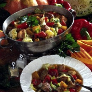 Bunte Kürbis-Kohl-Suppe