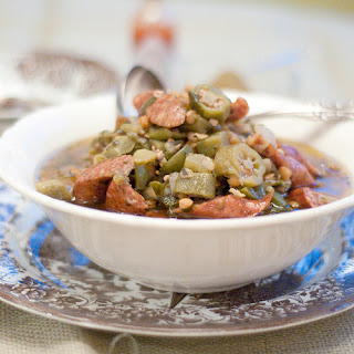 Lentil and Sausage Gumbo Soup