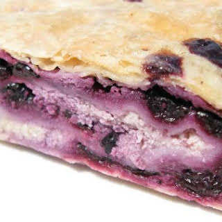 Blueberry and Cottage Cheese Strudel.