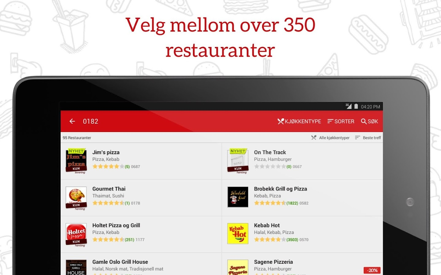 JUST EAT - Takeaway levert- screenshot