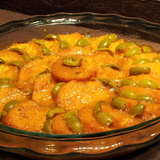 Cat Cora's Barbados Sweet Potatoes and Olive Casserole