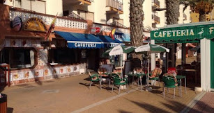 Zona de bares en Roquetas de Mar.