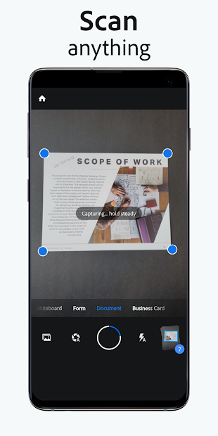 Adobe Scan: PDF & Business Card Scanner with OCR Android App Screenshot