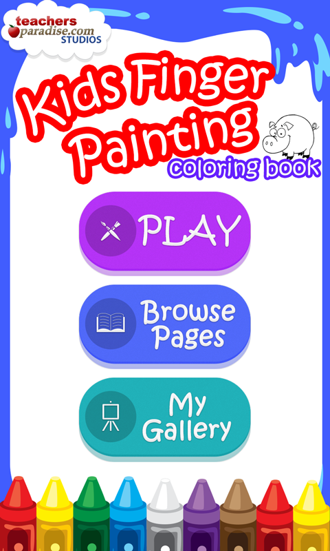 Kids Finger Painting Coloring- screenshot