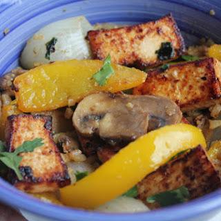 Teriyaki Tofu Bowl with Veggies and Riced Cauliflower – Gluten Free, Vegan Friendly.