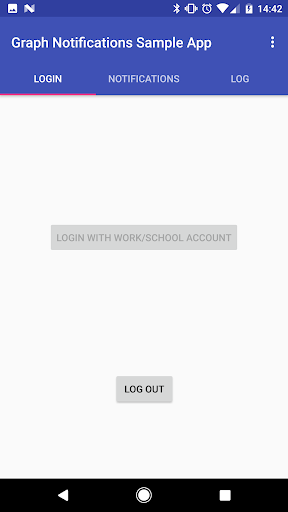 Graph Notifications Sample App 2.0 screenshots 2