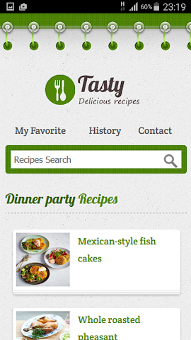android Dinner Party Recipe Screenshot 0