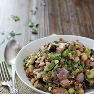 Mediterranean Chickpea and Lentil Salad.