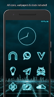 The Grid - Icon Pack (Free Version) Screenshot