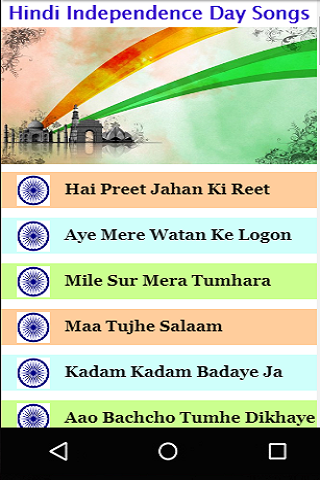 Hindi Independence Day Songs Videos screenshot 1