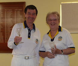 Photo: Mixed Pairs runners up- Ken Walker and Ann Armstrong