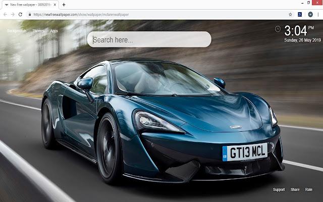 McLaren Wallpaper HD Sports Cars New Tab