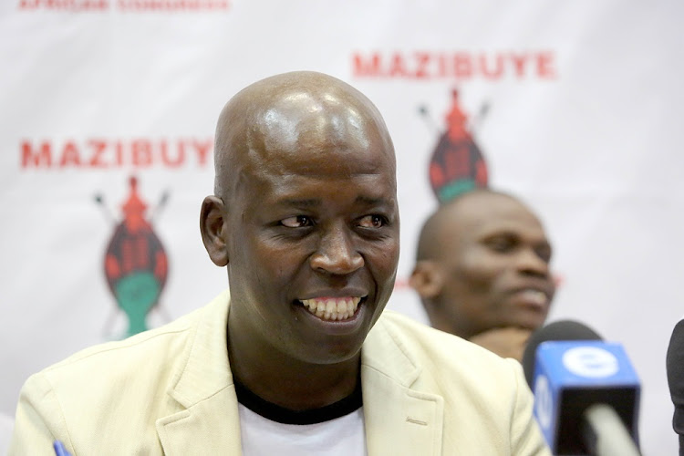 Mazibuye African Congress president Reggie Ngcobo during a press briefing in Durban on July 26 2018