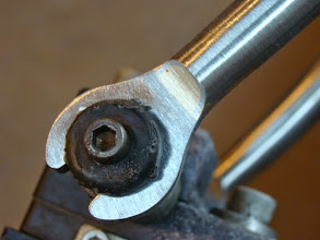 Photo: Front dropouts are brazed up and scalloped before I fit up the fork.