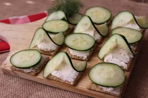 """Cucumber Snacks""""Everyone loves to snack on something. I like a snack that..."""