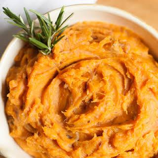 Sweet Potato Mash with Caramelised Onion.