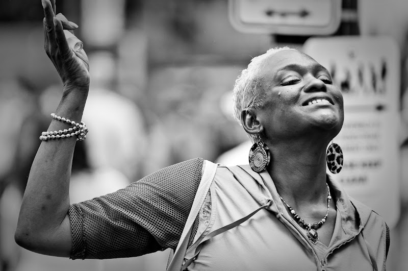 Photo: And She Danced  I love when people see me shooting their picture and ham it up a bit.  #streetphotography #lilwalkpdx