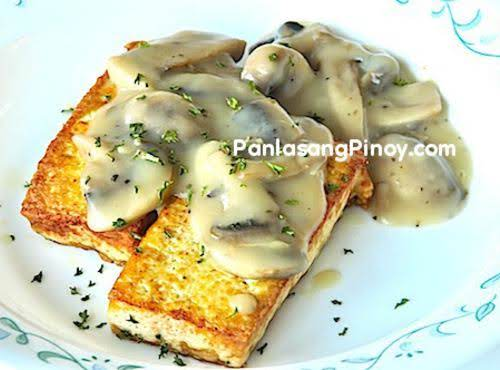Tofu With Mushroom Gravy Recipe