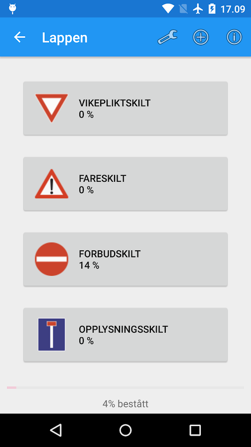 Driving licence (Norway)- screenshot