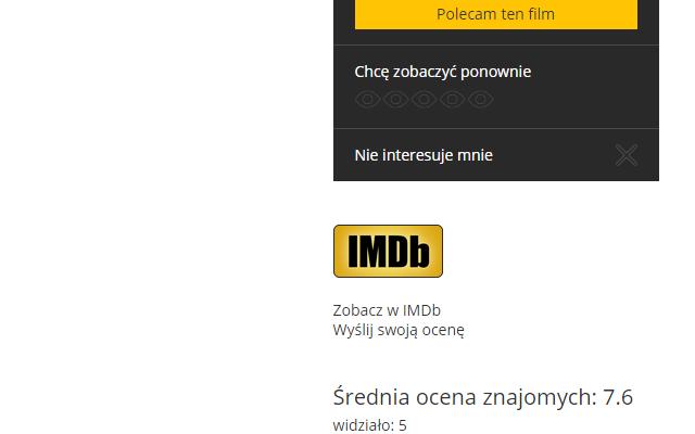 Synchronizacja IMDb z Filmweb