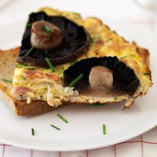 Bacon And Mushroom Frittata.
