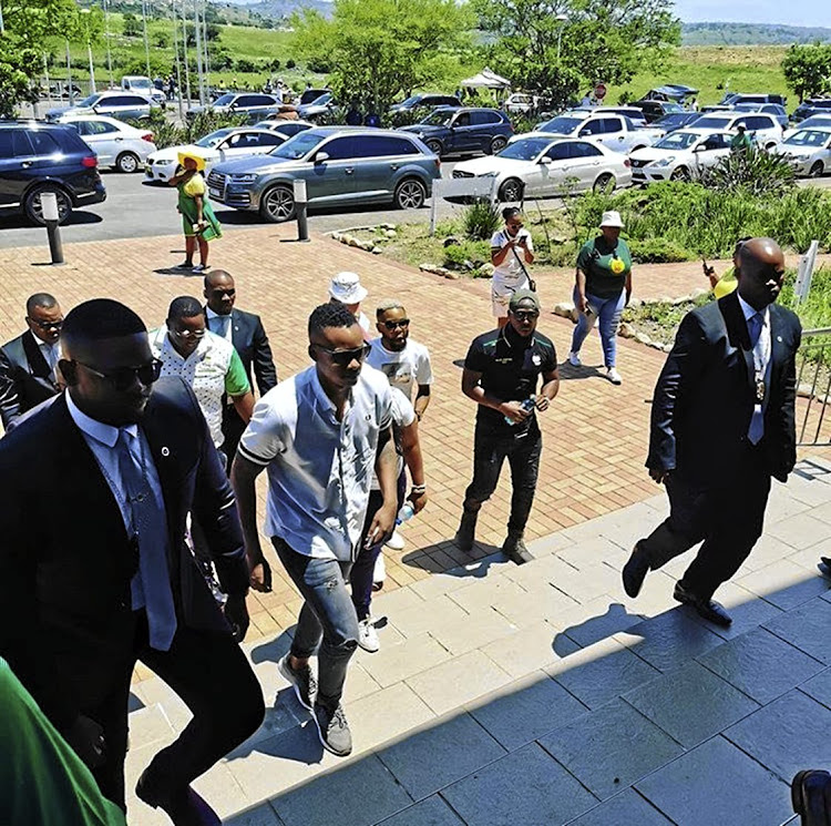 Duduzane Zuma arrives at the ANC celebrations in Port Shepstone.