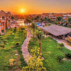 Caribean soma bay world resort by Marko Gilevski - Buildings & Architecture Office Buildings & Hotels ( holiday, desert, nature, hdr, park, sunset, buildings, hotel, egypt )