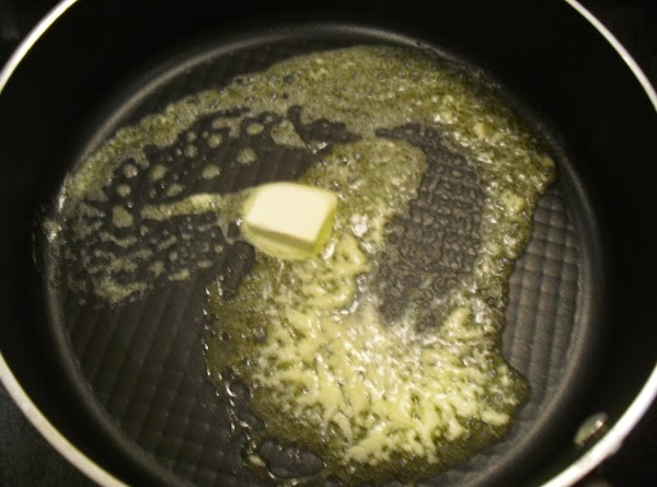 Heat a large skillet over medium-high heat and add the butter.  Let the...