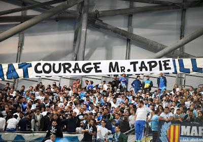 Les supporters de l'OM affichent leur soutien à Bernard Tapie