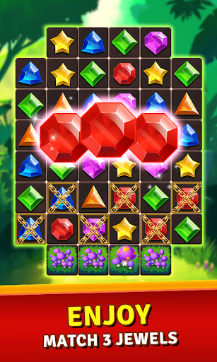 Jewels Jungle Treasure : Match 3  Puzzle  screenshots 1