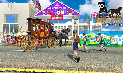 ville de taxi cheval transport scolaire pro  captures d'écran 2