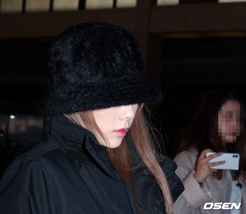 taeyeon airport sad 1