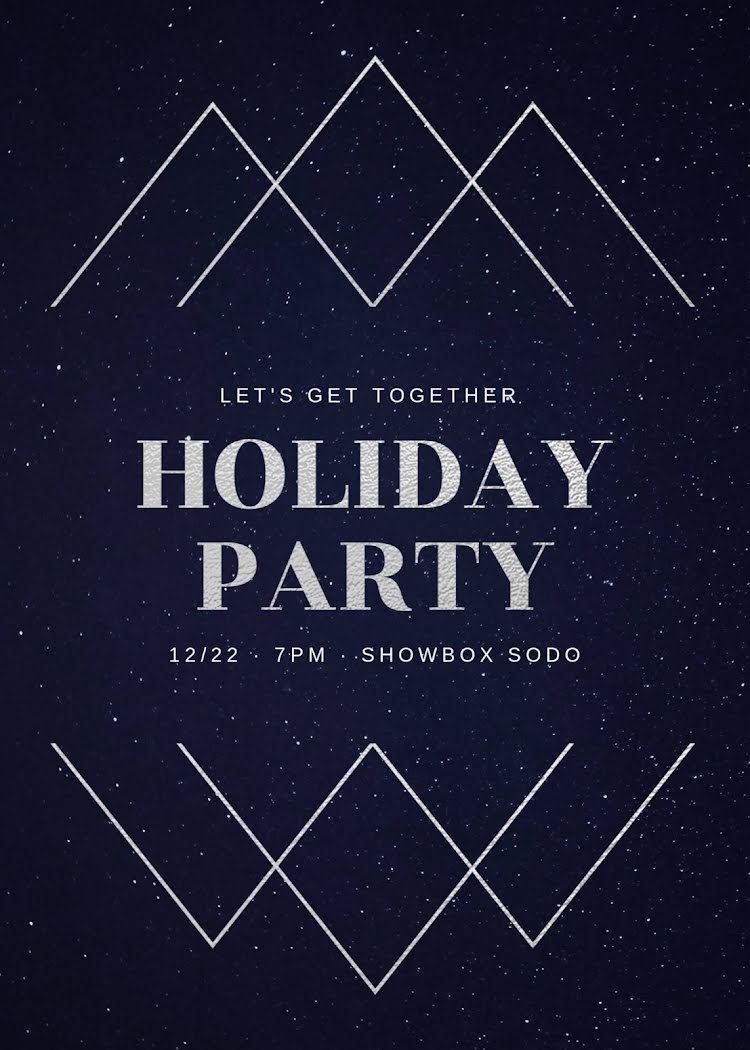 Let's Get Together - Christmas Card Template
