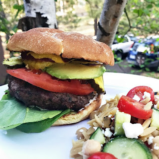 Barbecue Pickled Ginger Burgers.