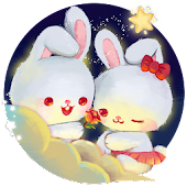 Kawaii Rabbit Love theme