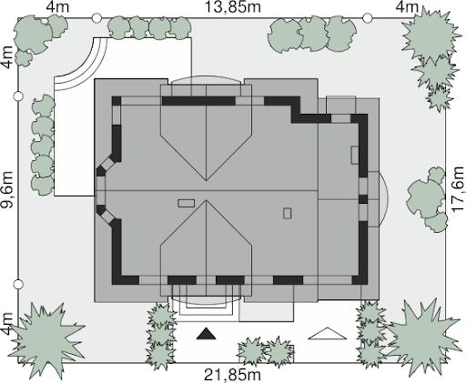Dom przy Cyprysowej 14 D - Sytuacja