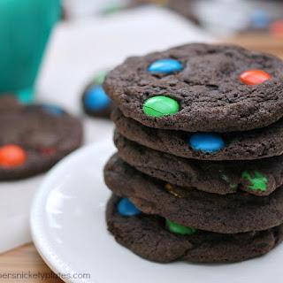 Chewy M&M Brownie Cookies Recipe