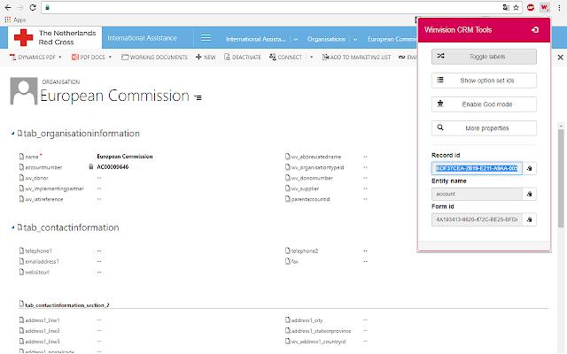 Winvision Dynamics 365 CRM Tools