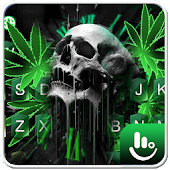 Green Weed Skull Keyboard Theme Android APK Download Free By Love Cute Keyboard